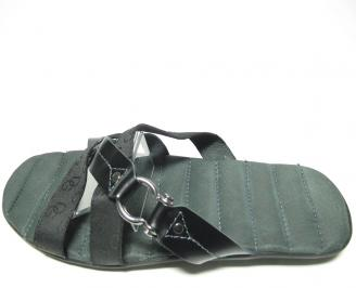 Мъжки чехли естествена кожа черна