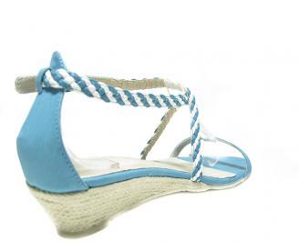 Дамски сандали еко кожа сини 3