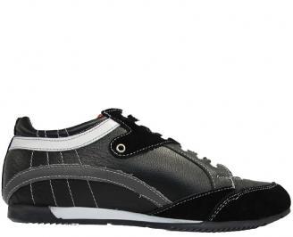 Мъжки обувки спортни естествена кожа черни