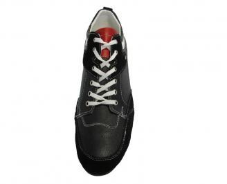 Мъжки обувки спортни естествена кожа черни 3
