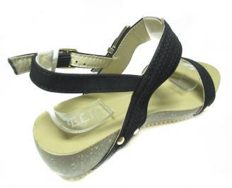 Дамски сандали еко кожа черни 3