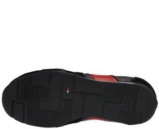 Спортни обувки от естествена кожа сини