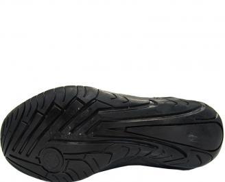 Обувки от естествена кожа черни
