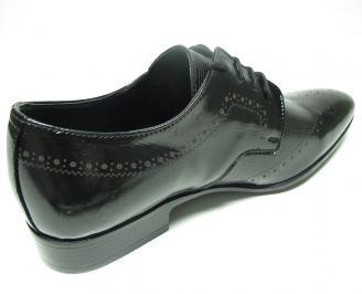 Мъжки обувки официални естествена кожа/лак черни 3
