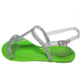 Дамски сандали зелени