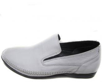 Мъжки обувки естествена кожа официални бели