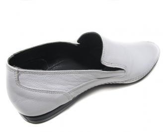 Мъжки обувки естествена кожа официални бели 3