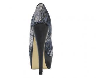 Дамски обувки сатен шарени 3