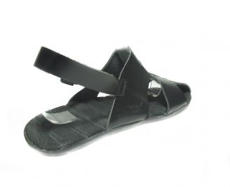 Мъжки сандали естествена кожа черни 3