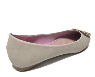 Дамски обувки еко кожа бежови 3