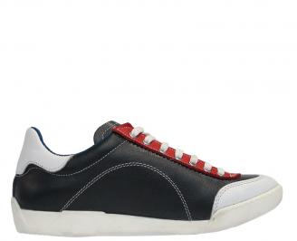 Мъжки спортни обувки от естествена кожа черни