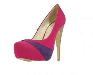 Дамски обувки еко велур цикламени