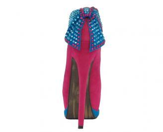 Дамски обувки еко велур цикламени 3