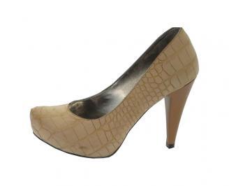 Дамски обувки еко кожа кафяви