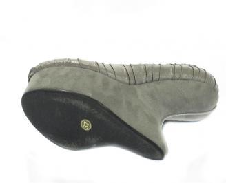 Дамски обувки на платформа еко велур сиви 3