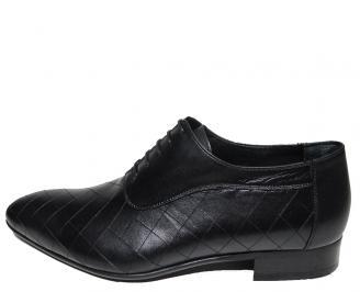 Мъжки обувки официални естествена кожа черни