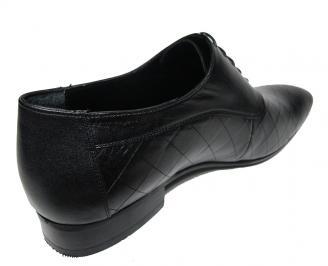 Мъжки обувки официални естествена кожа черни 3