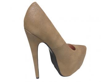 Дамски обувки еко велур бежови 3