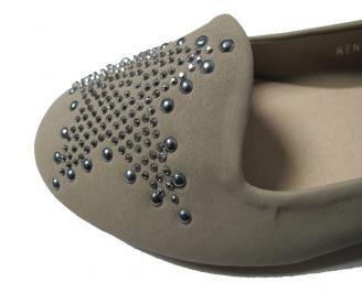 Дамски обувки еко велур бежови