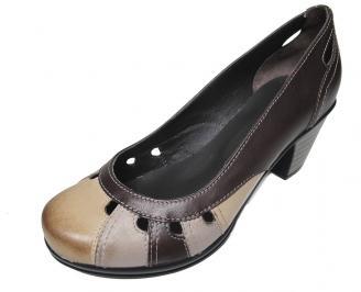 Дамски обувки от естествена кожа кафяви 3