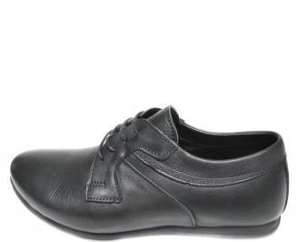 Мъжки  елегантни обувки естествена кожа черни