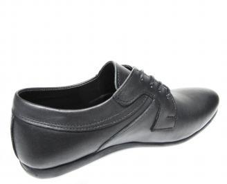 Мъжки  елегантни обувки естествена кожа черни 3