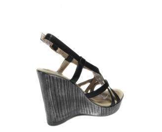 Дамски сандали на платформа  черни 3