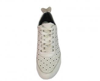 Мъжки обувки естествена кожа  бели 3