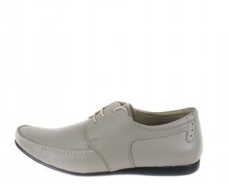 Мъжки обувки естествена кожа бежови официални