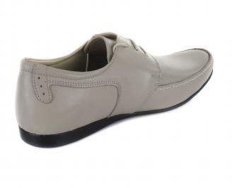 Мъжки обувки естествена кожа бежови официални 3