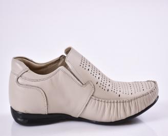 Мъжки обувки официални бежови естествена кожа 3