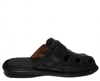 Мъжки чехли естествена кожа черни 3