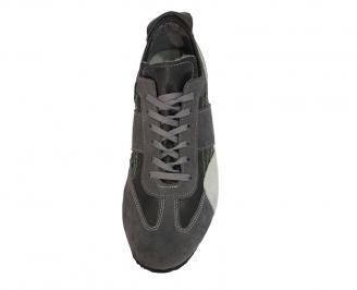Спортни мъжки обувки от естествена кожа черни 3
