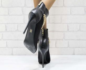 Дамски елегантни боти  черни 3