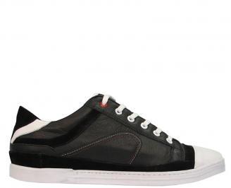 Спортни мъжки обувки  естествена кожа черни