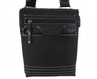 Мъжка чанта естествена кожа черен