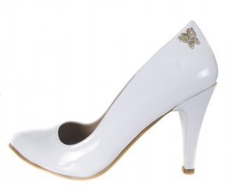 Дамски елегантни обувки еко кожа бели