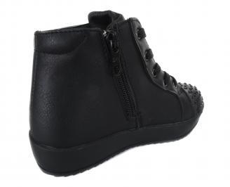 Детски обувки Bulldozer еко кожа черни 3
