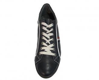 Мъжки спортни обувки  естествена кожа сини 3