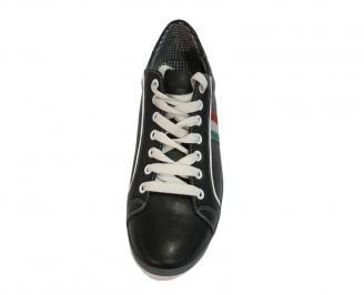 Спортни мъжки обувки  естествена кожа черни 3