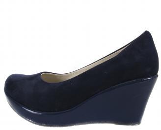 Дамски обувки еко кожа тъмно сини