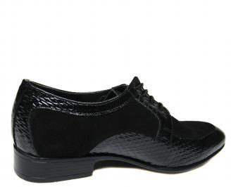 Мъжки обувки естествена кожа с лаково покритие черни 3
