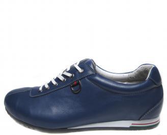 Мъжки обувки сини естествена кожа