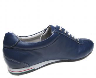 Мъжки обувки сини естествена кожа 3