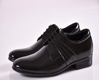 Мъжки обувки черни естествена кожа/лак