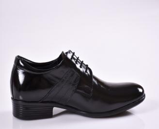 Мъжки обувки черни естествена кожа/лак 3