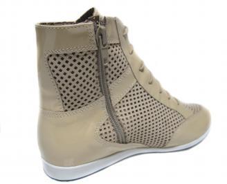 Дамски обувки бежови естествена кожа