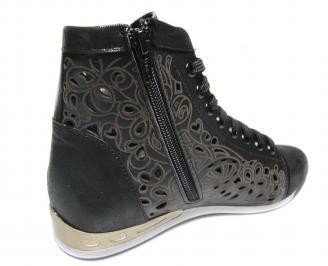 Дамски обувки черни естествена кожа 3