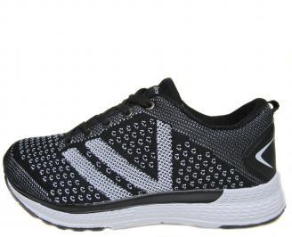 Мъжки обувки черни текстил