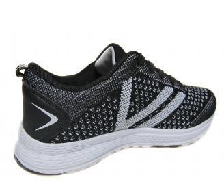 Мъжки обувки черни текстил 3